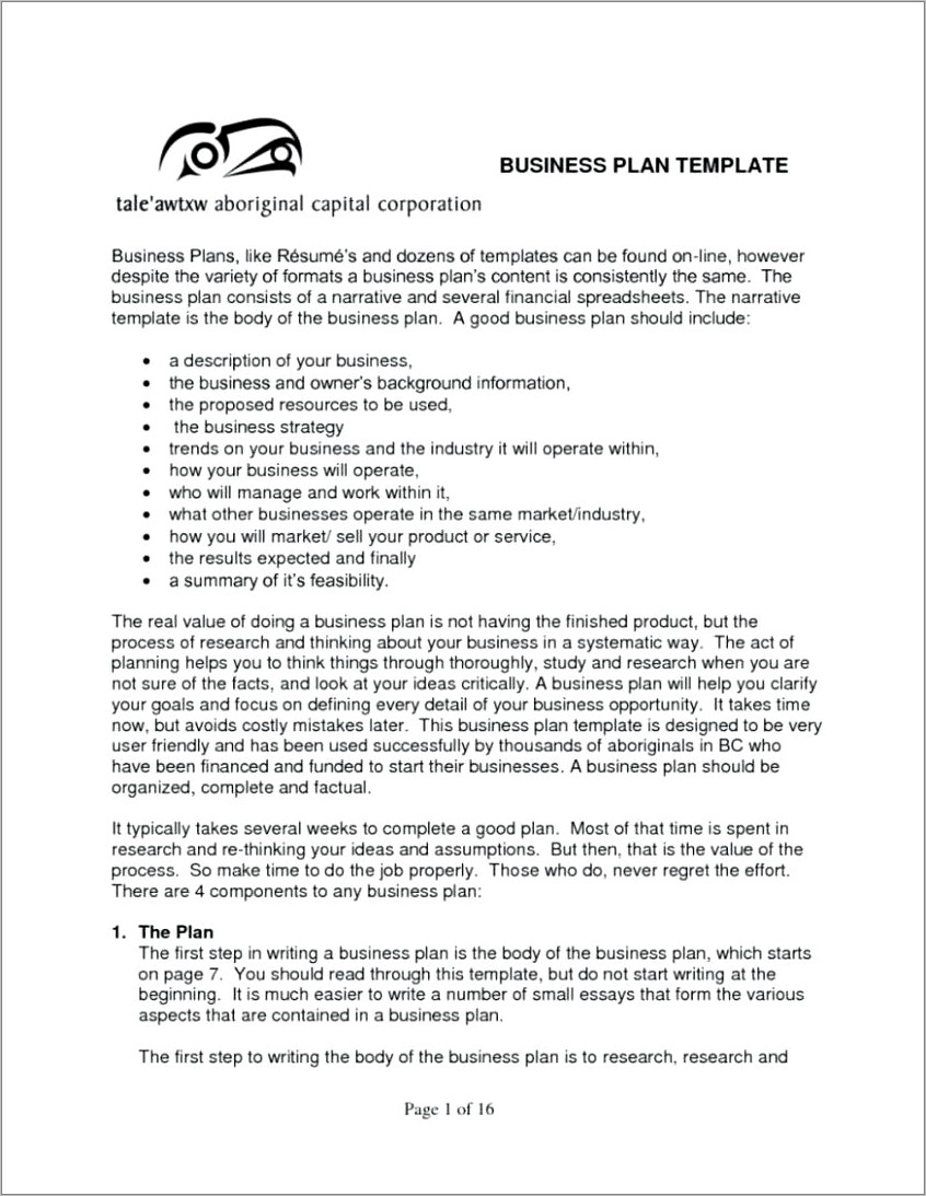Nano Brewery Business Plan Template