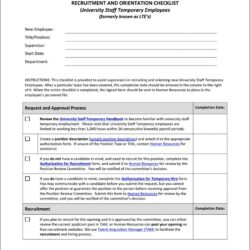 New Hire Evaluation Form Template