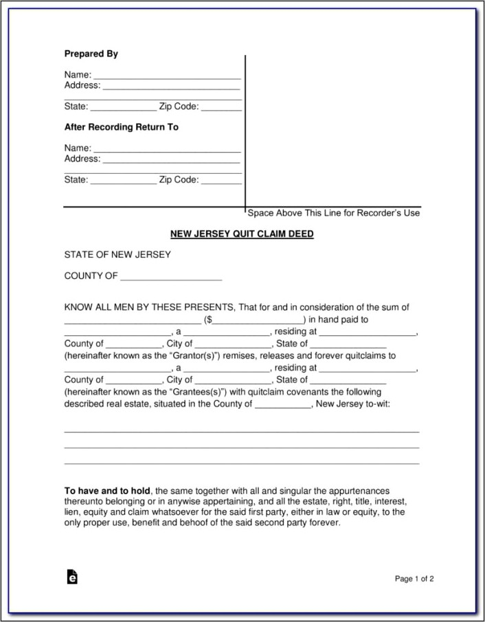 New Jersey Uncontested Divorce Papers
