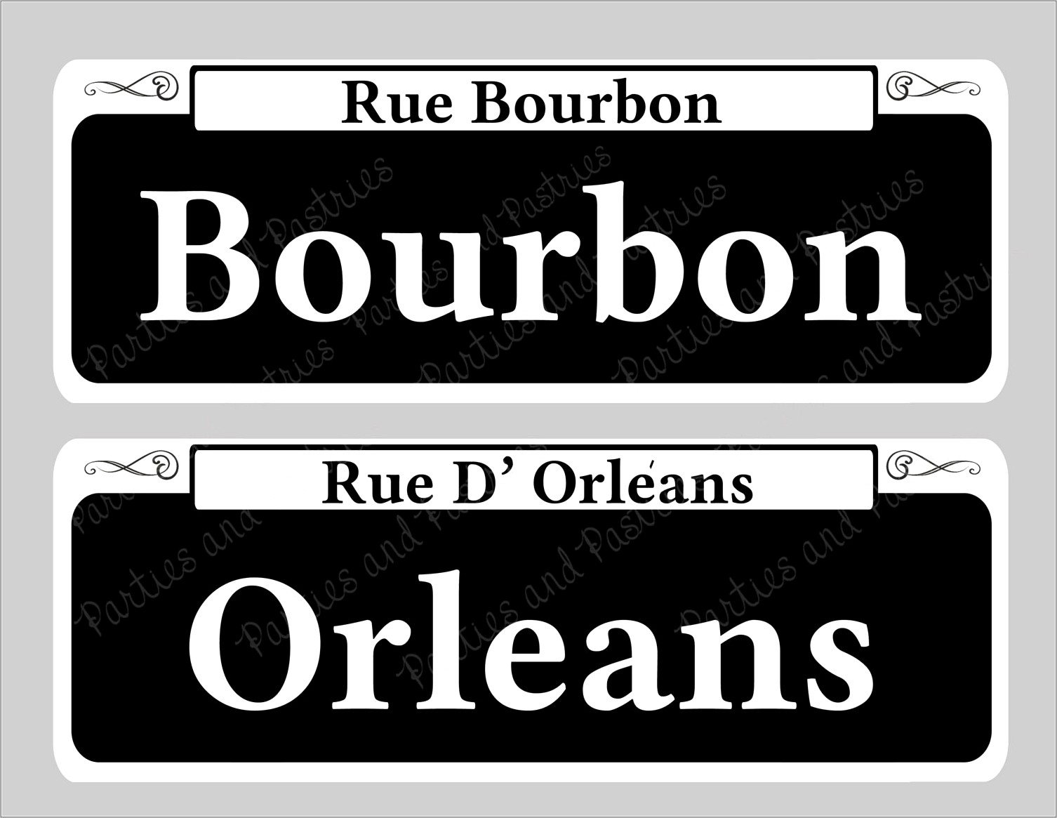 New Orleans Street Signs Template