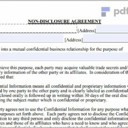 Non Disclosure Agreement Free Template Download (150)