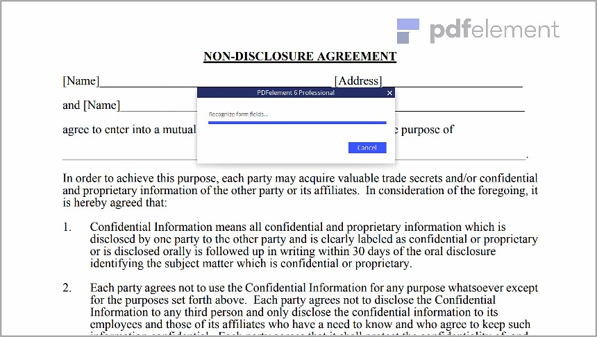 Non Disclosure Agreement Free Template Download (60)