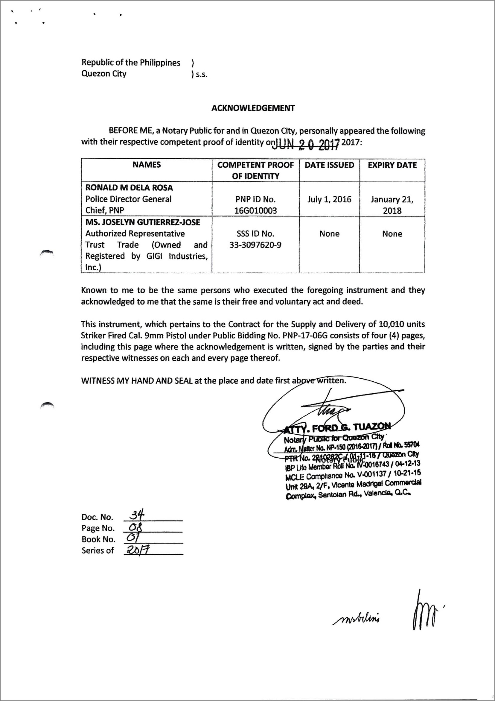 Notary Public Acknowledgement Philippines