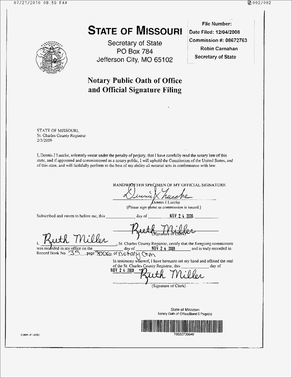 Notary Public Forms Florida