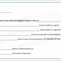Notary Public Wording Colorado