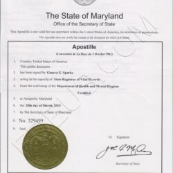 Notary Public Wording Maryland