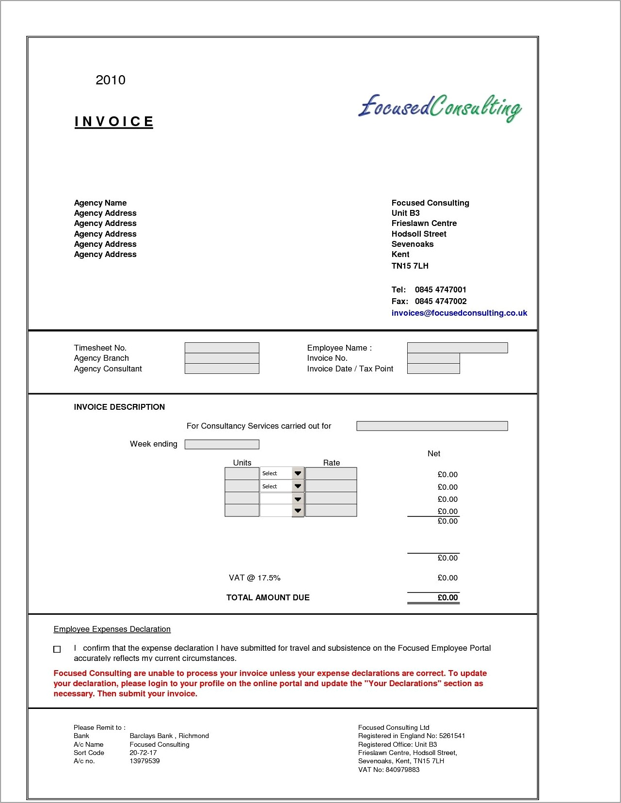 Office 2010 Templates For Invoices