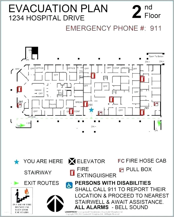 Office Building Evacuation Plan Template