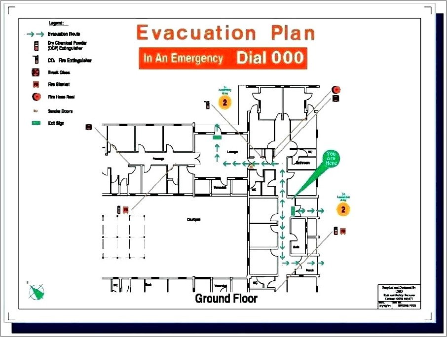 Office Evacuation Map Template