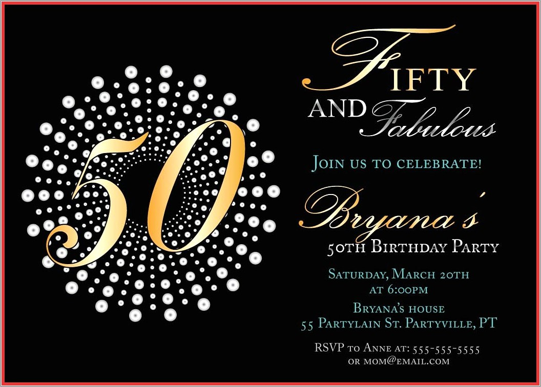 Online 50 Th Birthday Invitation Templates