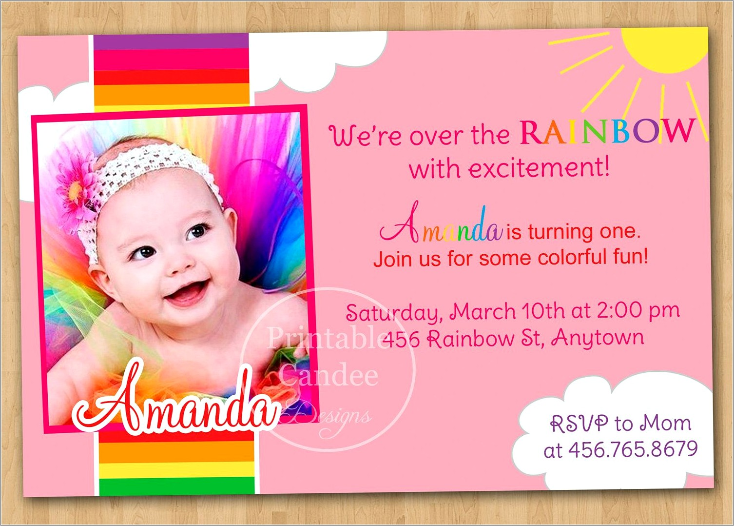 Online Birthday Invitation Template