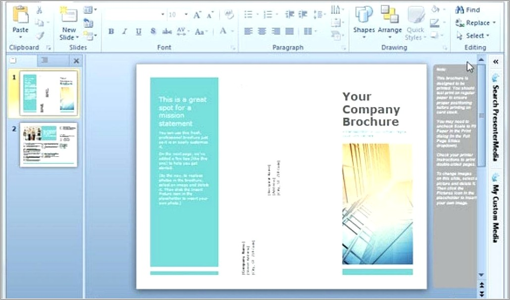 Online Template For Pamphlet