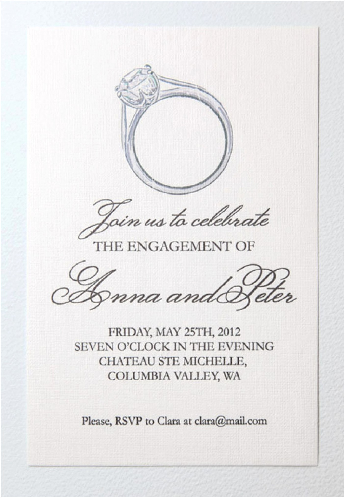 Online Templates For Engagement Invitations