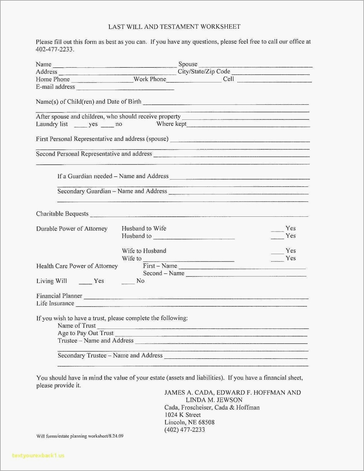Online Templates For Wills