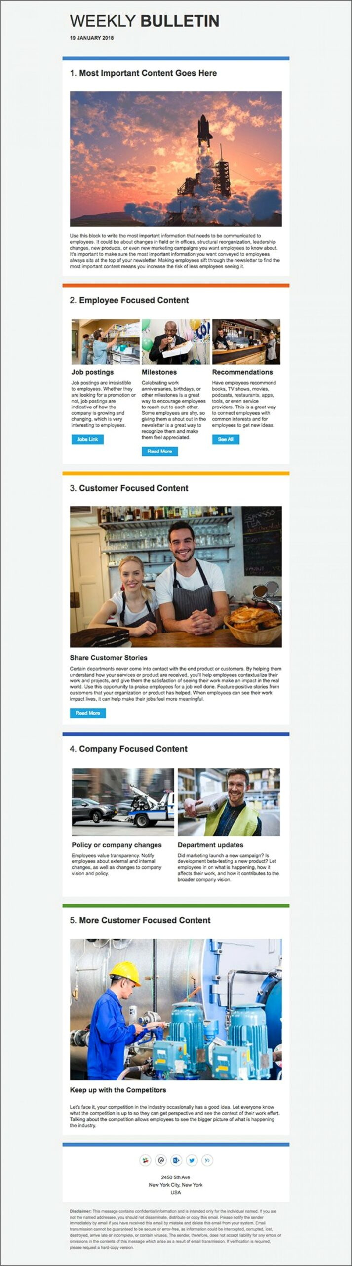 Outlook 2013 Email Newsletter Template