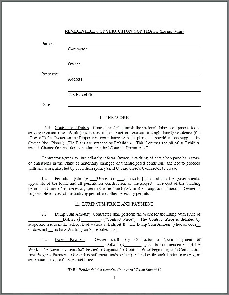 Owner Finance Auto Contract Template