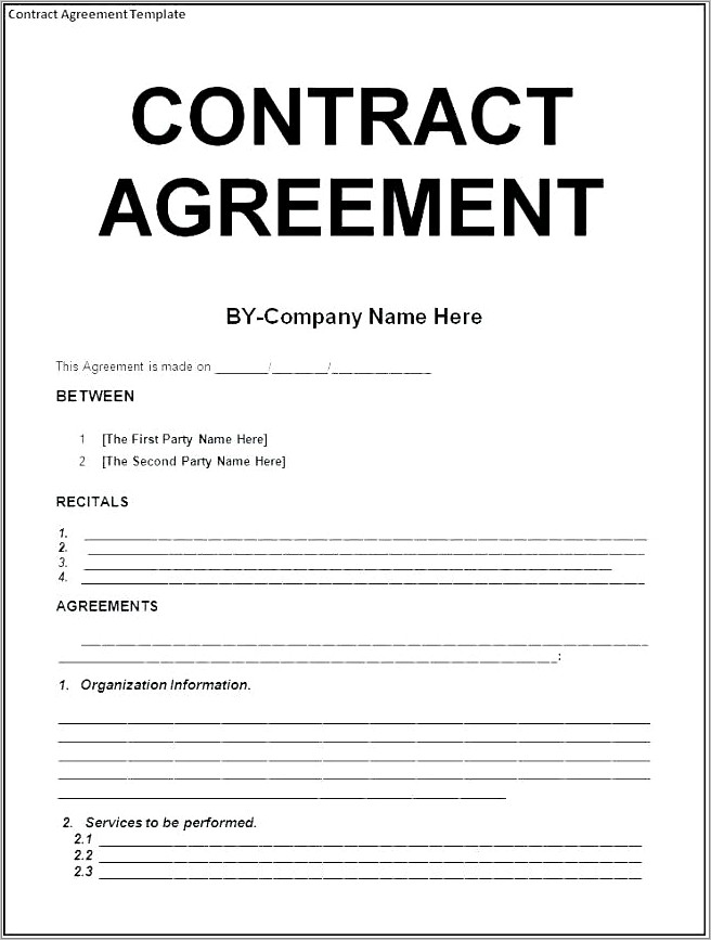 Painting Contract Templates Free