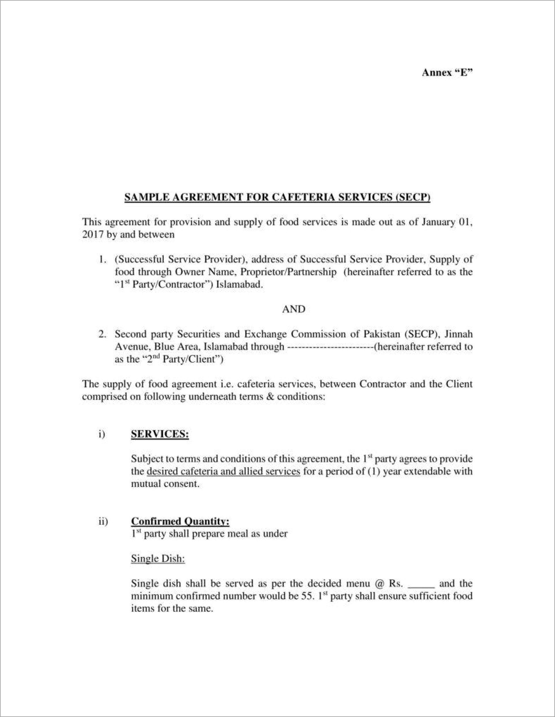 Painting Service Contract Template