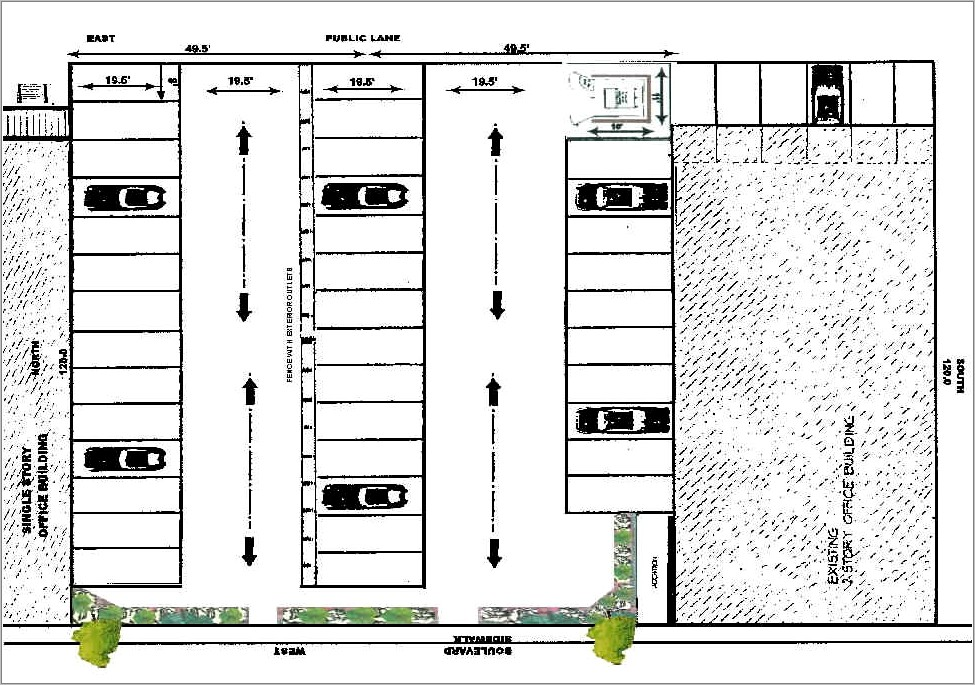 Parking Lot Layout Template