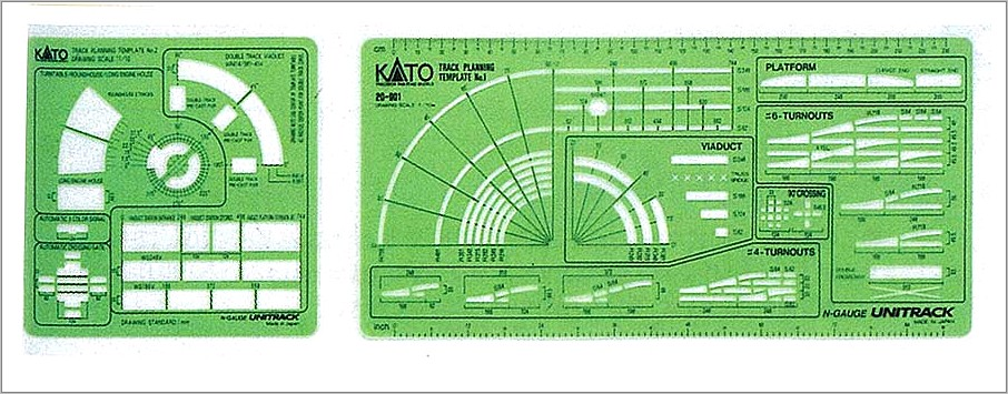 Peco Model Railway Track Templates