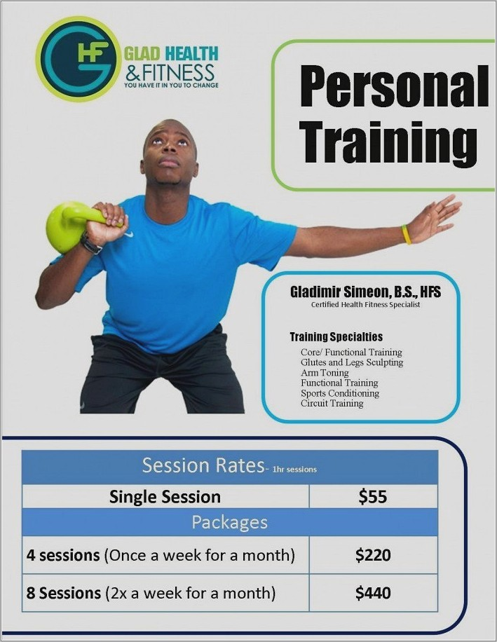 Personal Training Flyer Templates Free