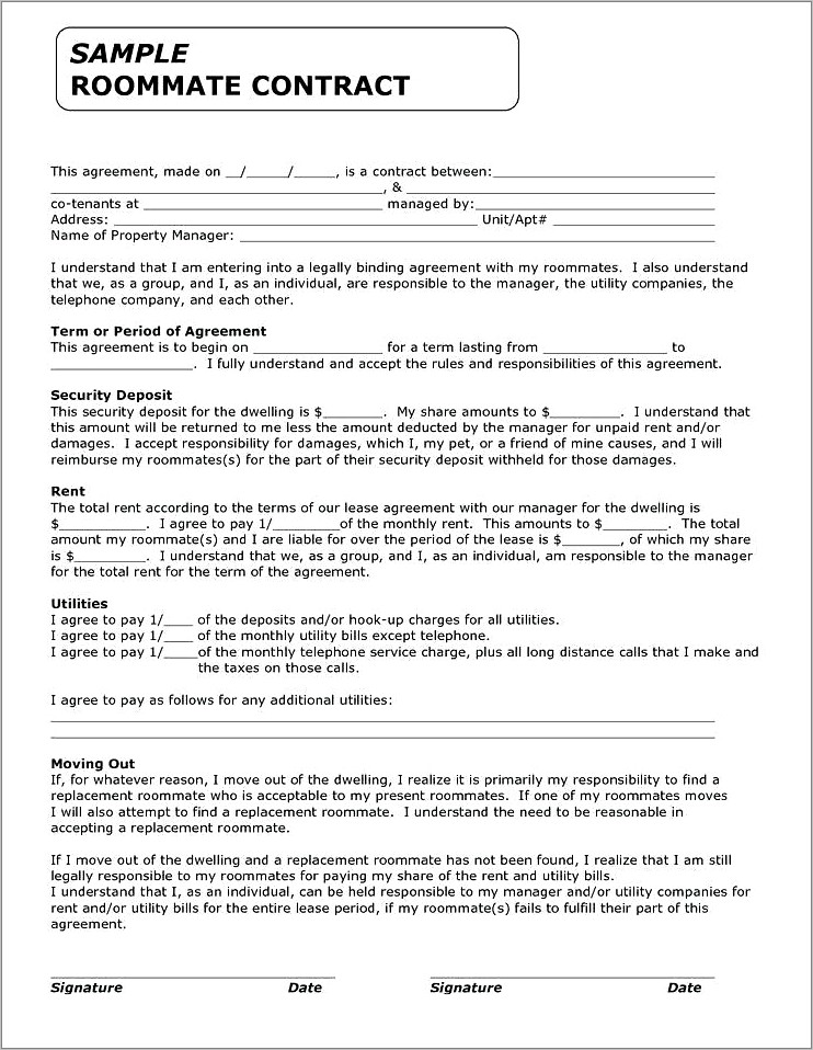 Pet Sales Contract And Agreement
