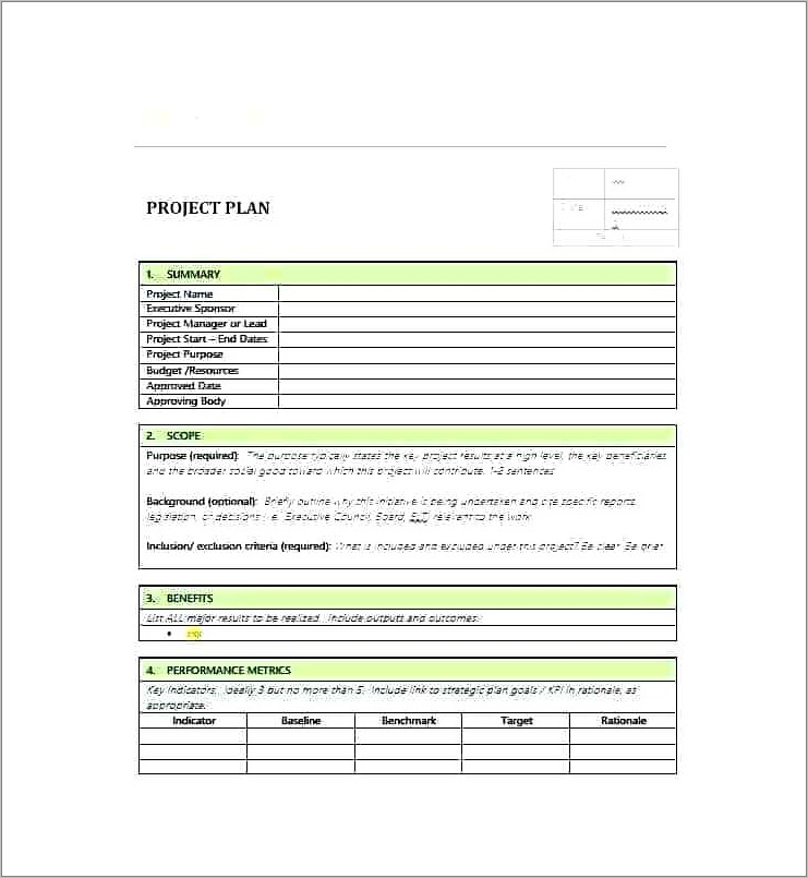 Pmo Charter Template Word Doc