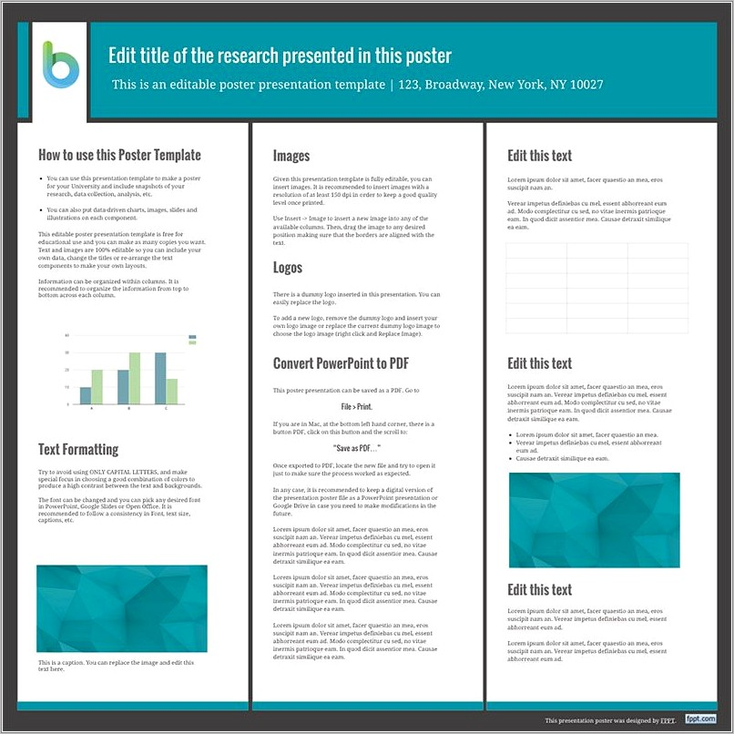 Poster Presentation Template Free Download