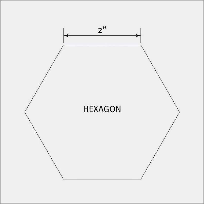 Printable Hexagon Templates For Quilting