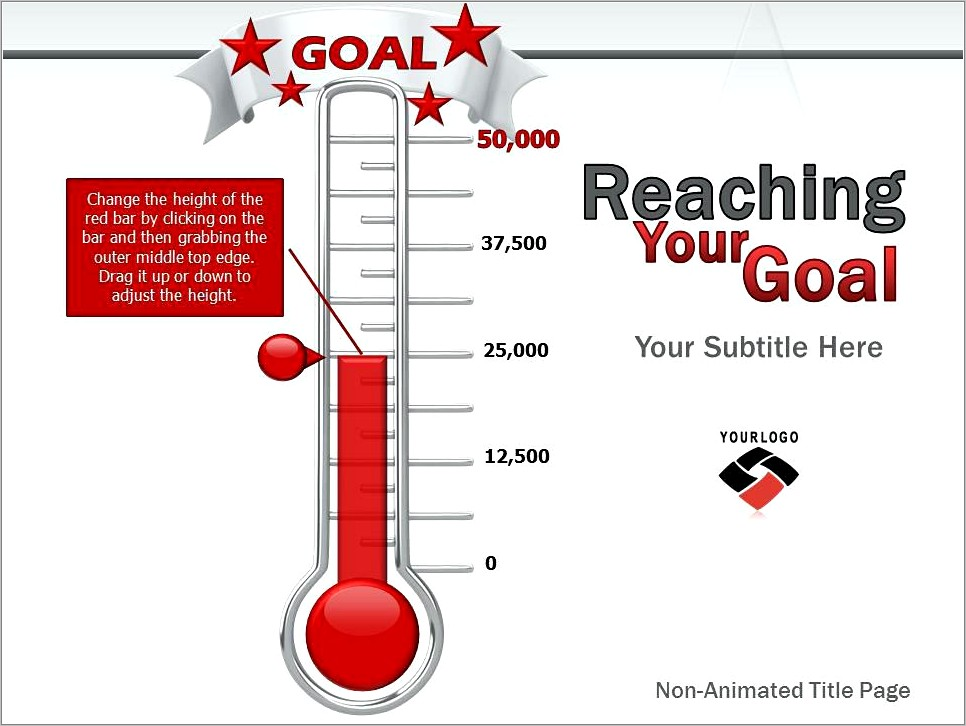 Printable Thermometer Template For Fundraising