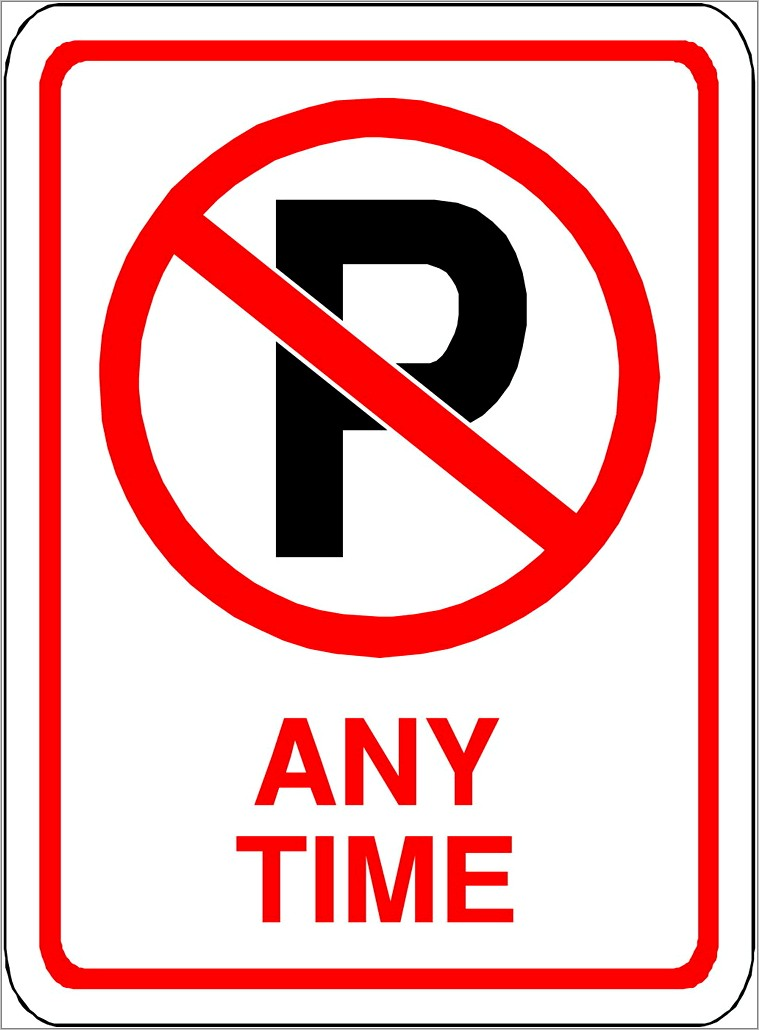 Private Parking Sign Template