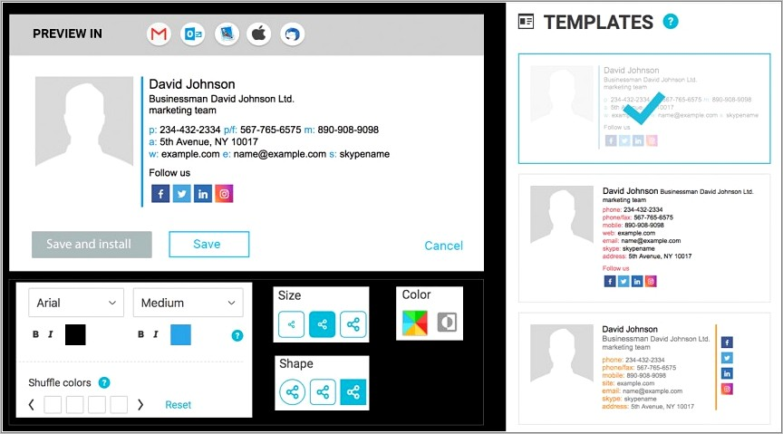 Professional Email Signatures Templates Free