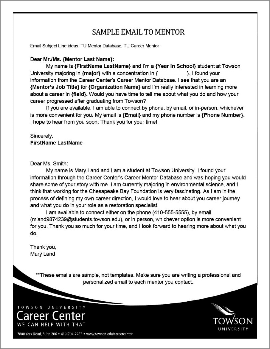 Professional Email Templates Examples