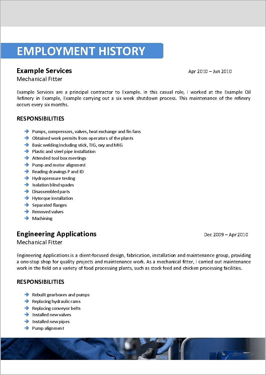 Professional Oil And Gas Resume Templates
