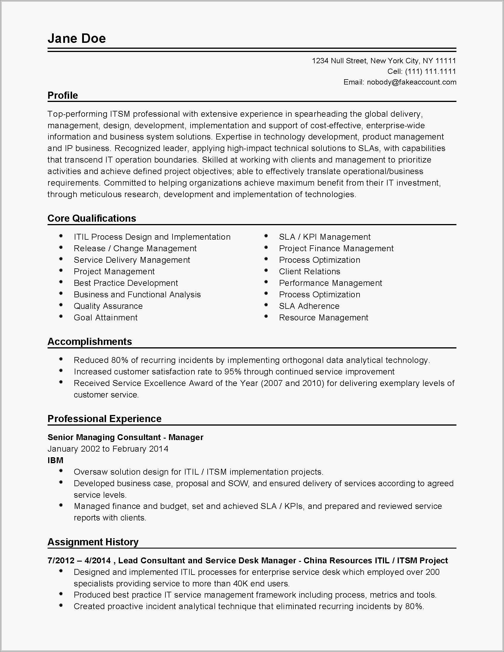Professional Resume Template In Word 2007
