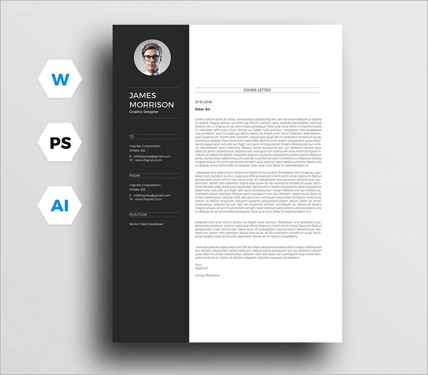 Professional Resume Template Word 2018
