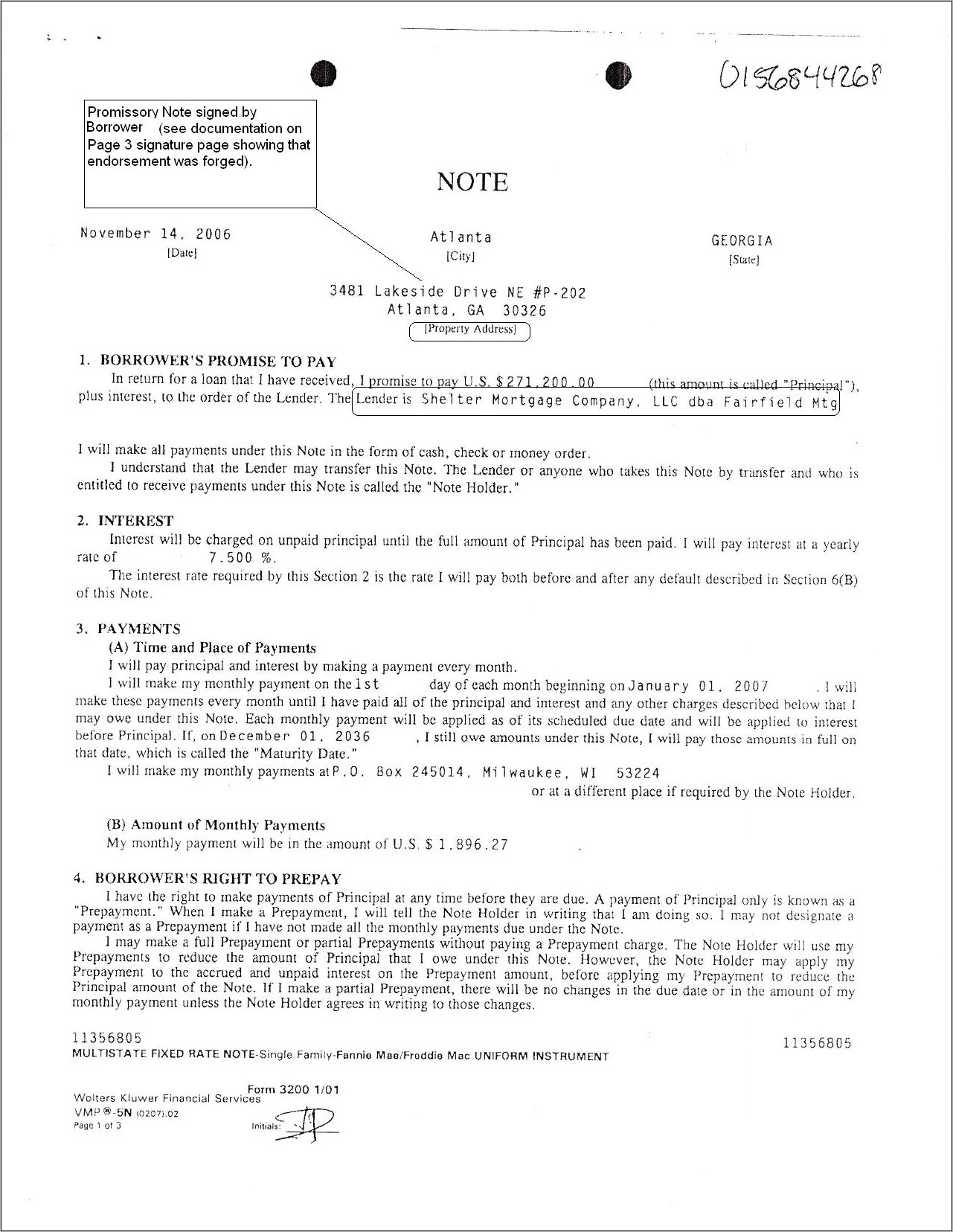 Promissory Note Example Form