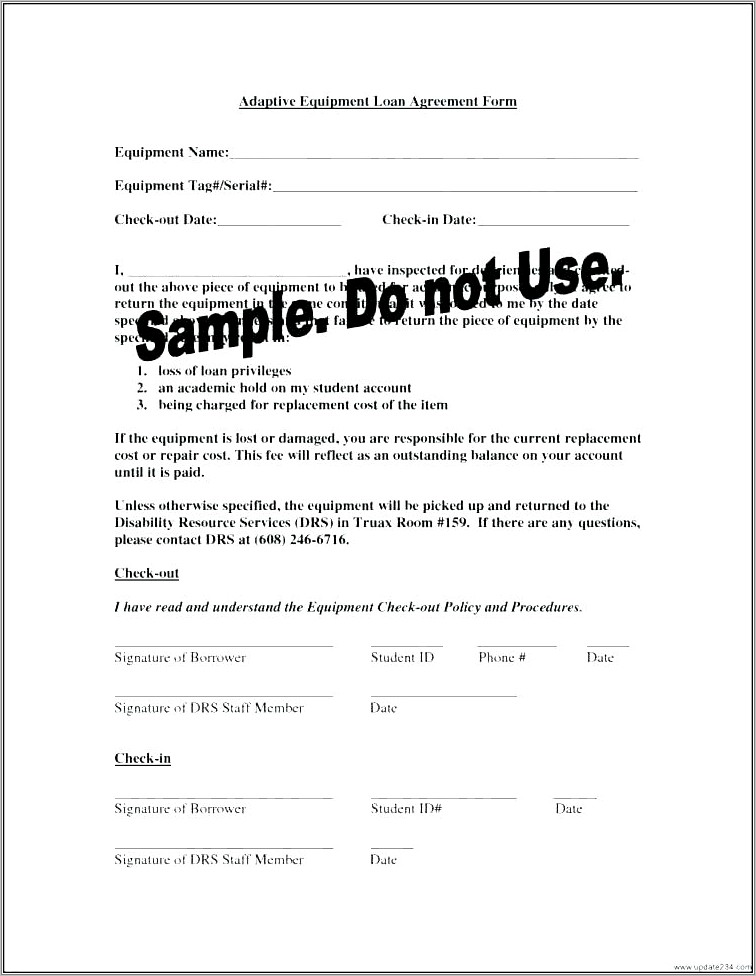 Simple Equipment Hire Agreement Template Free