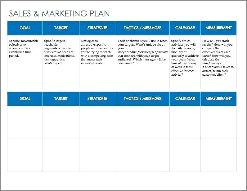 Tactical Implementation In Marketing Plan Example