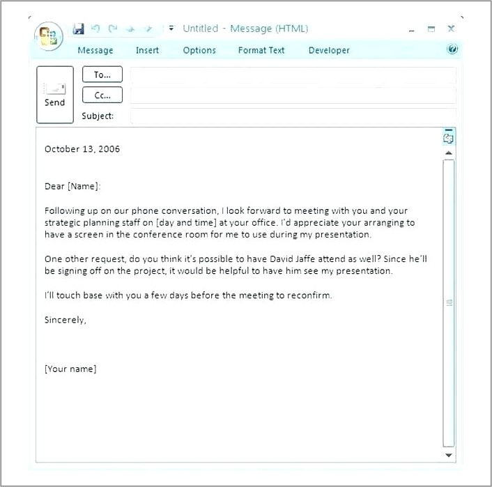 Team Meeting Invite Email Template