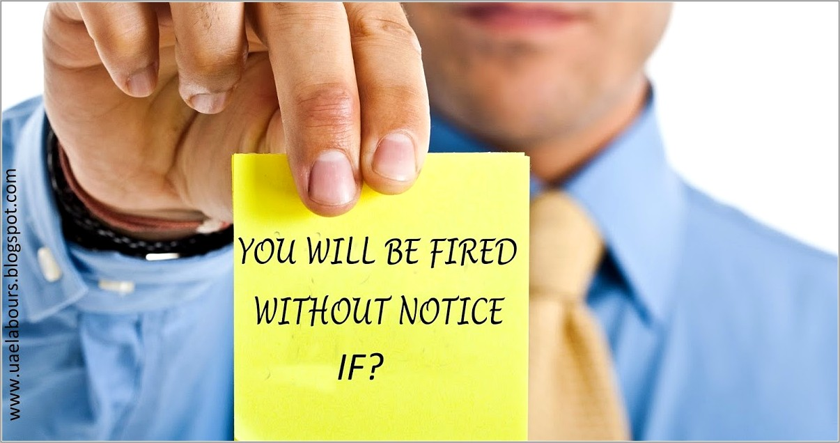 Termination Of Employment Contract Notice Period