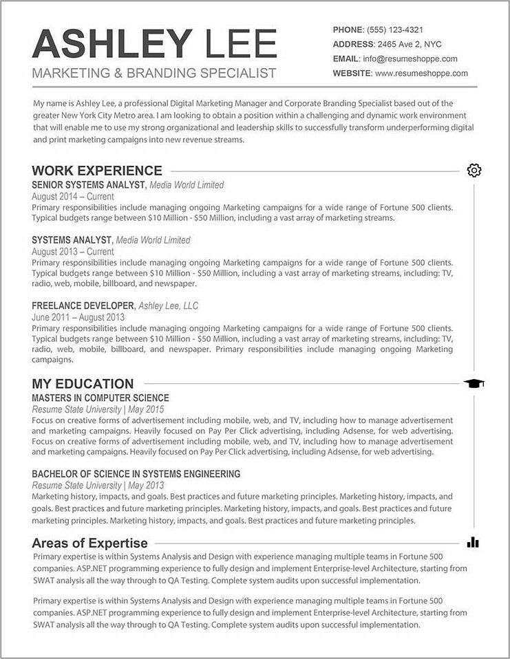 Word Resume Templates Free Mac