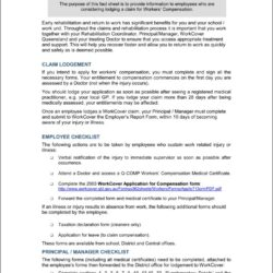 Workcover Nsw Workers Compensation Claim Form