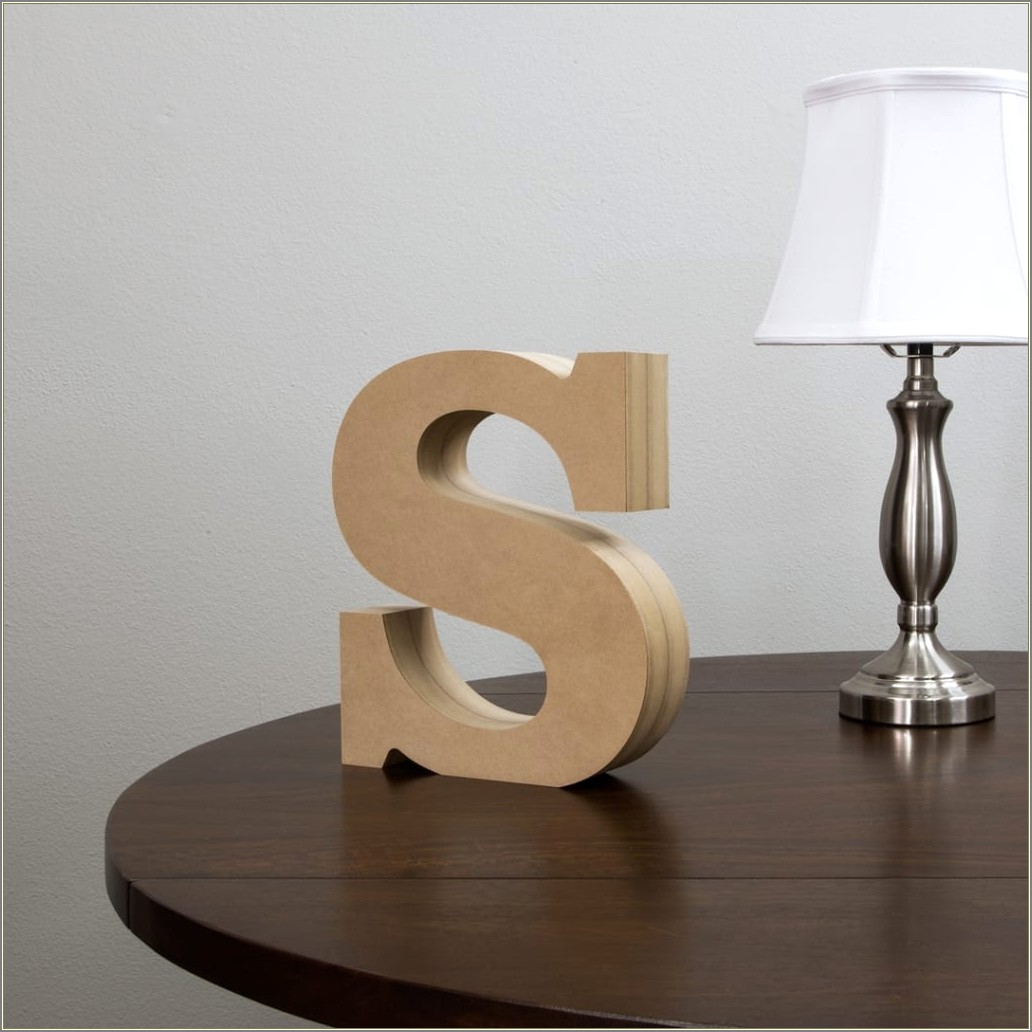 12 Inch Wooden Letters Standing