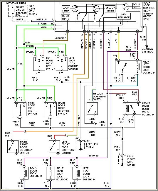 1998 Toyota Camry Electrical Wiring Diagram