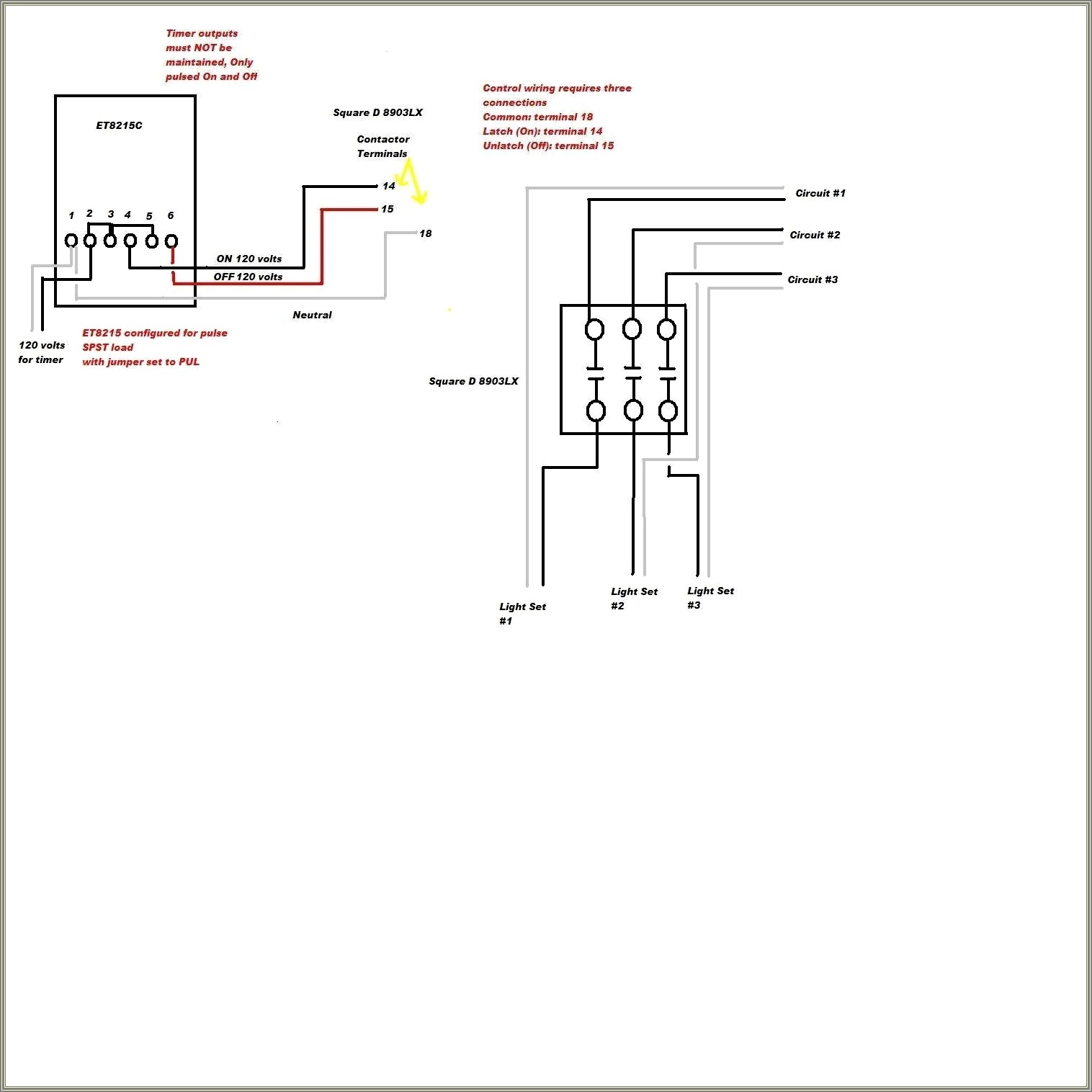 2 Pole Lighting Contactor Wiring Diagram