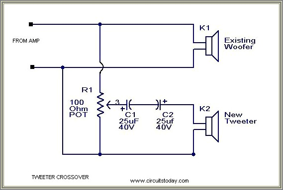 2 Way Speaker Crossover Circuit Diagram