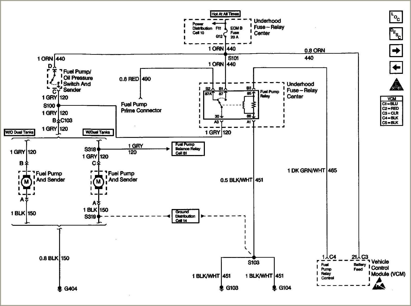 2000 Chevy Silverado Fuel Pump Wiring Diagram