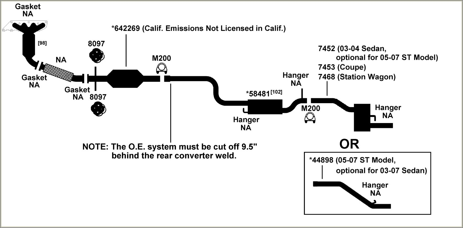 2000 Ford Focus Exhaust Diagram