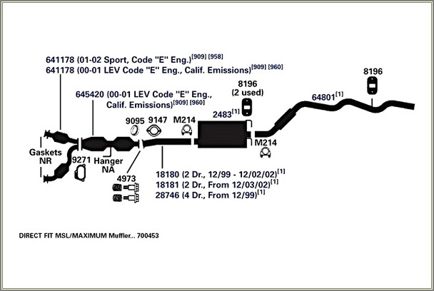 2002 Ford Explorer Exhaust Diagram